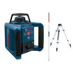 Niwelator laserowy Bosch GRL 250 HV - odbiornik, statyw, łata