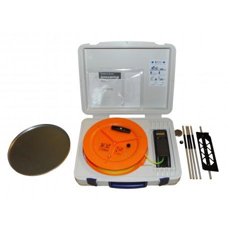 Poziomica elektroniczna wężowa Nivcomp H-25 - z akcesoriami