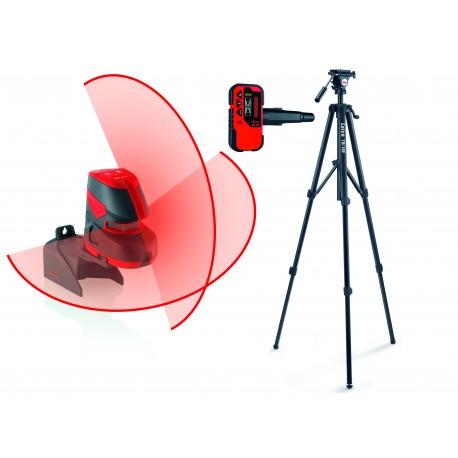 Poziomnica laserowa Leica Lino L2+, statyw, odbiornik RVL 100