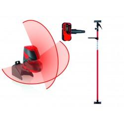 Laser liniowy Leica Lino L2+, tyczka, odbiornik RVL 100