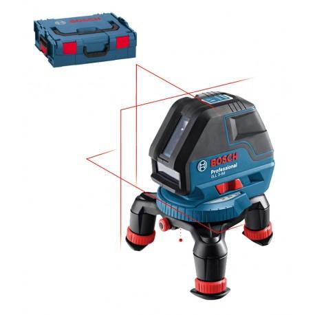 Laser krzyżowy Bosch GLL 3-50 P + L-Boxx