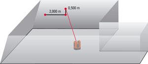 Tyczenie odcinków o zadanej długości wprowadzenej przez operatora na ekranie kontrolera