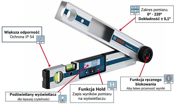 Kątomierz cyfrowy Bosch GAM 220