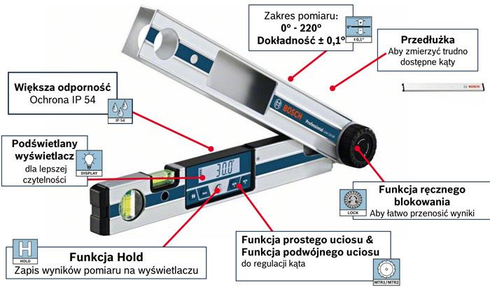 Kątomierz elektroniczny Bosch GAM 220 MF