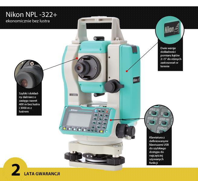 tachimetr bezlustrowy Nikon NPL-322