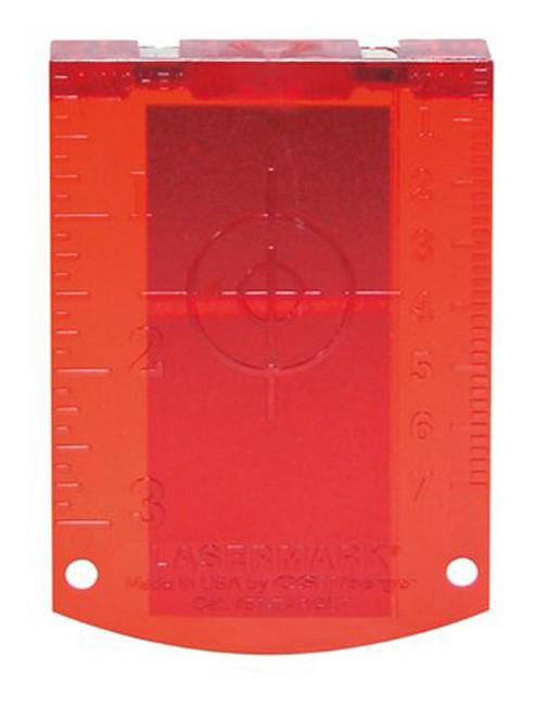 Tarcza celownicza do laserów z czerwoną wiązką