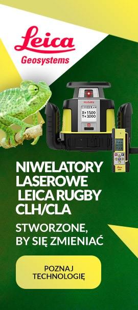 Niwelatory laserowy obrotowe Leica Rugby Chameleon CLH/CLA